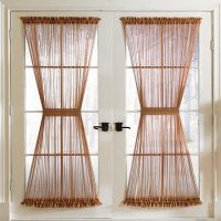 Brylanehome Studio Sheer Voile Door Panel (Chocolate,60″ W 72″ L)