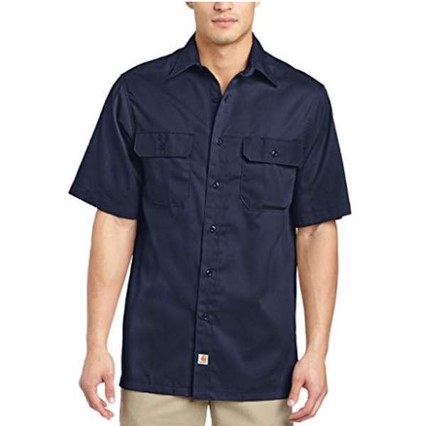 Carhartt Men's Short Sleeve Work Shirts Button Front